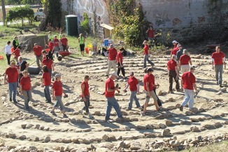 Labyrinth Builders/Walkers - Cotton Mill Labyrinth - Asheville NC
