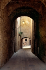 Light on San Gimignano Street