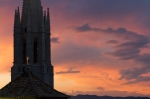 Sunset in Girona, Spain