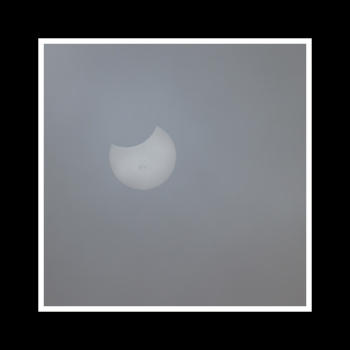 Oct 23, 2014 Partial Solar Eclipse through Fog