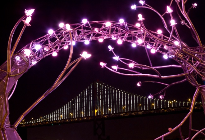 """SOMA""  Neurons Sculpture Surround Bay Bridge"