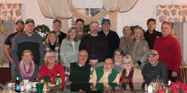 Gang gathered for Dad's 90th 12/22