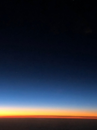 12/24 First Light - from the plane