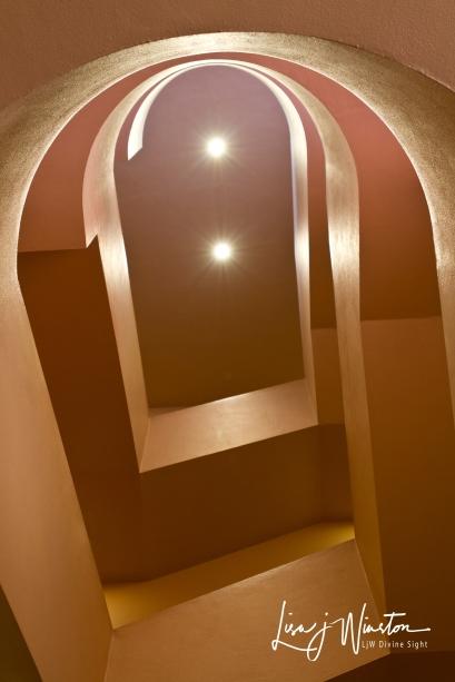 Frank Lloyd Wright MCC Stairwell
